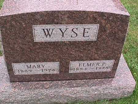 WYSE, MARY - Washington County, Iowa   MARY WYSE