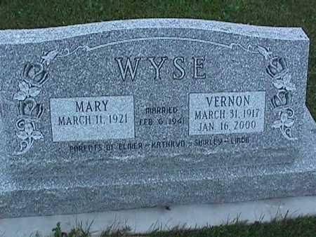 WYSE, MARY - Washington County, Iowa | MARY WYSE