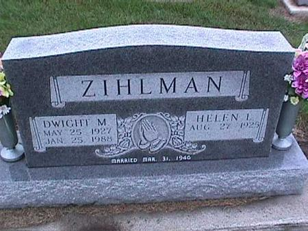 ZIHLMAN, HELEN - Washington County, Iowa | HELEN ZIHLMAN
