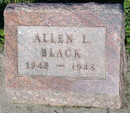 BLACK, ALLEN LEROY - Washington County, Iowa | ALLEN LEROY BLACK