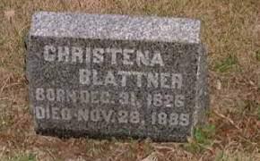 BLATTNER, CHRISTENA - Washington County, Iowa   CHRISTENA BLATTNER