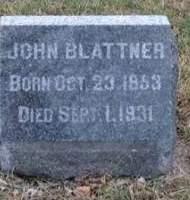 BLATTNER, JOHN - Washington County, Iowa   JOHN BLATTNER