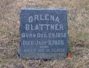 BLATTNER, ORLENA - Washington County, Iowa | ORLENA BLATTNER
