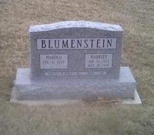 BLUEMENSTEIN, HARRIET - Washington County, Iowa   HARRIET BLUEMENSTEIN