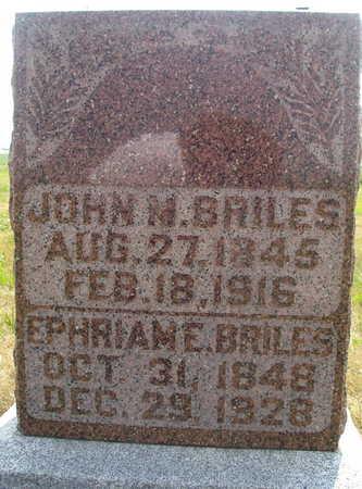 BRILES, EPHRIAM E - Washington County, Iowa | EPHRIAM E BRILES