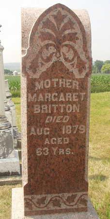 BRITTON, MARGARET - Washington County, Iowa   MARGARET BRITTON