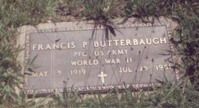 BUTTERBAUGH, FRANCIS - Washington County, Iowa | FRANCIS BUTTERBAUGH