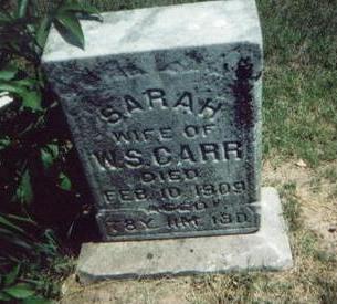 CARR, SARAH - Washington County, Iowa   SARAH CARR