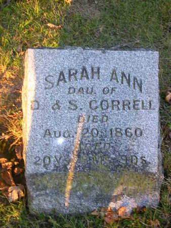 CORRELL, SARAH ANN - Washington County, Iowa | SARAH ANN CORRELL