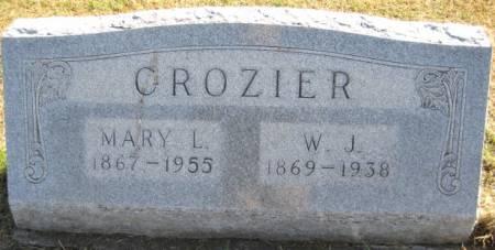 CROZIER, MARY L. - Washington County, Iowa   MARY L. CROZIER