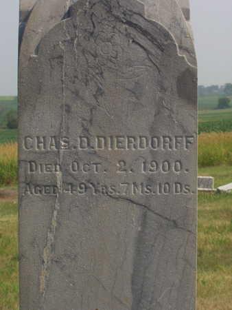 DIERDORFF, CHAS. D - Washington County, Iowa | CHAS. D DIERDORFF
