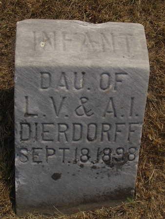 DIERDORFF, INFANT - Washington County, Iowa | INFANT DIERDORFF