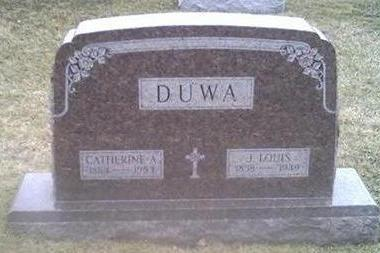 DUWA, CATHERINE A. - Washington County, Iowa | CATHERINE A. DUWA