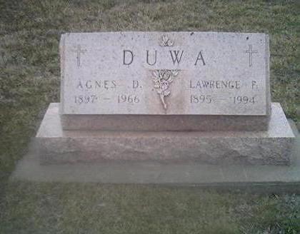 DUWA, AGNES D. - Washington County, Iowa | AGNES D. DUWA