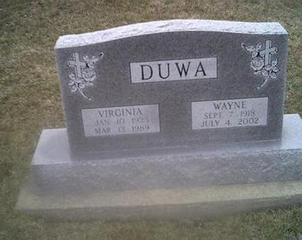 DUWA, VIRGINIA - Washington County, Iowa | VIRGINIA DUWA