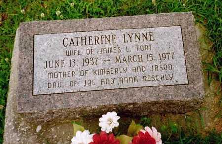 RESCHLEY FORT, CATHARINE LYNN - Washington County, Iowa | CATHARINE LYNN RESCHLEY FORT