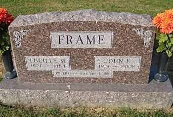 FRAME, JOHN F. - Washington County, Iowa   JOHN F. FRAME