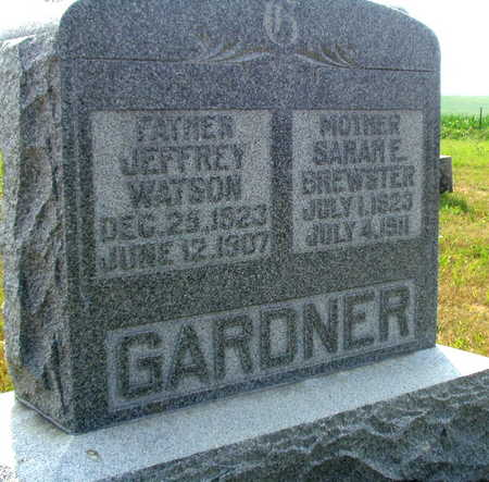 BREWSTER GARDNER, SARAH E - Washington County, Iowa | SARAH E BREWSTER GARDNER