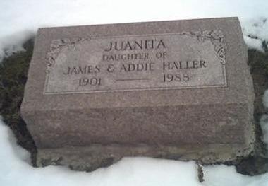 HALLER, JUANITA - Washington County, Iowa   JUANITA HALLER