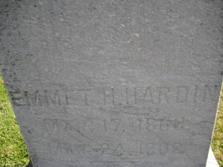 HARDIN, EMMET H. - Washington County, Iowa | EMMET H. HARDIN