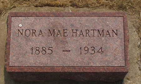 HARTMAN, NORA MAE - Washington County, Iowa   NORA MAE HARTMAN