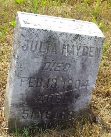 HAYDEN, JULIA - Washington County, Iowa   JULIA HAYDEN