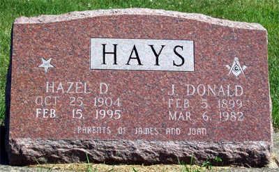 HAYS, JASPER DONALD - Washington County, Iowa | JASPER DONALD HAYS