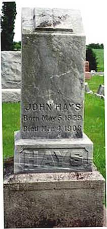 HAYS, JOHN - Washington County, Iowa | JOHN HAYS