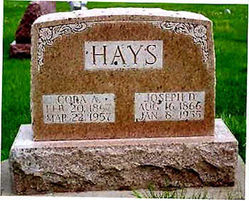 HAYS, JOSEPH DECKER - Washington County, Iowa | JOSEPH DECKER HAYS