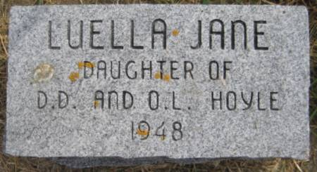 HOYLE, LUELLA JANE - Washington County, Iowa   LUELLA JANE HOYLE
