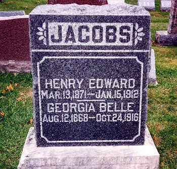 JACOBS, GEORGIA BELLE - Washington County, Iowa   GEORGIA BELLE JACOBS