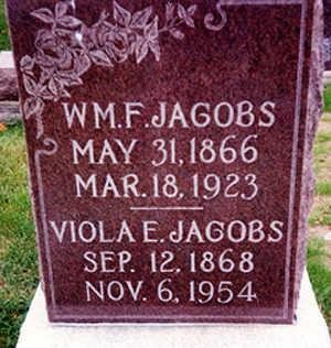 JACOBS, WILLIAM FRANKLIN - Washington County, Iowa | WILLIAM FRANKLIN JACOBS