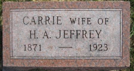 JEFFREY, CARRIE - Washington County, Iowa   CARRIE JEFFREY