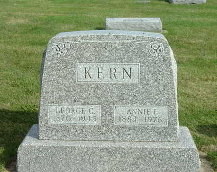 KERN, ANNIE I. - Washington County, Iowa | ANNIE I. KERN