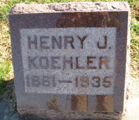 KOEHLER, HENRY J. - Washington County, Iowa   HENRY J. KOEHLER