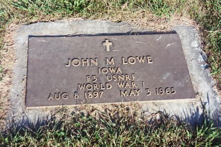 LOWE, JOHN M. - Washington County, Iowa | JOHN M. LOWE