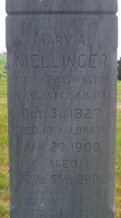 MELLINGER, MARY A - Washington County, Iowa | MARY A MELLINGER