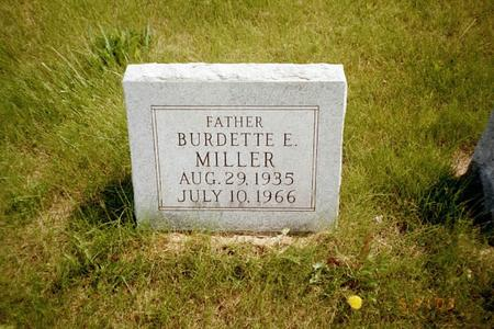 MILLER, BURDETTE - Washington County, Iowa | BURDETTE MILLER