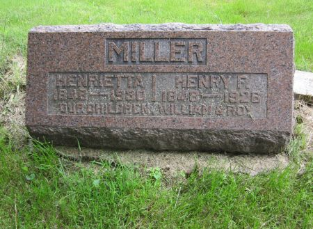 MILLER, HENRY F. - Washington County, Iowa | HENRY F. MILLER