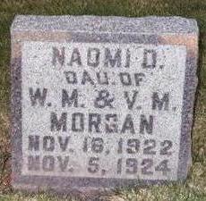 MORGAN, NAOMI D. - Washington County, Iowa | NAOMI D. MORGAN