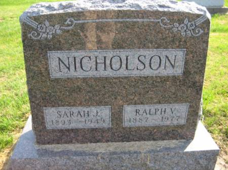 NICHOLSON, RALPH V. - Washington County, Iowa   RALPH V. NICHOLSON