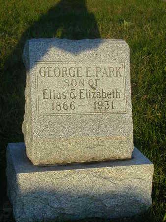 PARK, GEORGE E - Washington County, Iowa   GEORGE E PARK