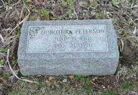 PETERSON, DORTHEA - Washington County, Iowa | DORTHEA PETERSON
