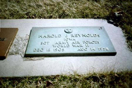 REYNOLDS, HAROLD J. - Washington County, Iowa   HAROLD J. REYNOLDS