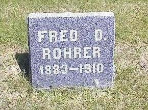 ROHRER, FRED D. - Washington County, Iowa | FRED D. ROHRER
