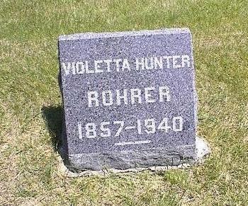 HUNTER ROHRER, VIOLETTA A. - Washington County, Iowa | VIOLETTA A. HUNTER ROHRER