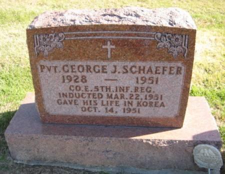 SCHAEFER, PVT. GEORGE J. - Washington County, Iowa | PVT. GEORGE J. SCHAEFER