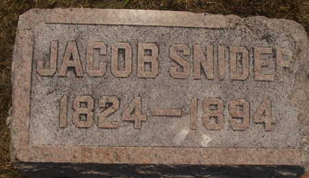 SNIDER, JACOB - Washington County, Iowa   JACOB SNIDER