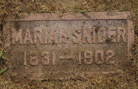 SNIDER, MARIAH - Washington County, Iowa | MARIAH SNIDER