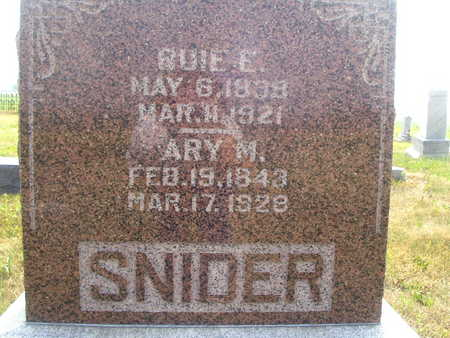 SNIDER, RUIE E - Washington County, Iowa | RUIE E SNIDER